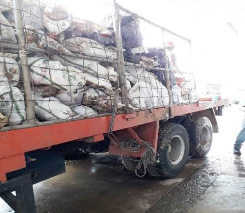 Damaged food products from Ba shops taken for destruction. Picture: SUPPLIED