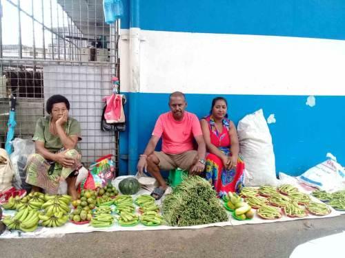 Ba Market Vendors Association president Nitesh Prasad and wife Riteshni outside Rajendra Prasad Foodtown, Ba. Picture: SUPPLIED