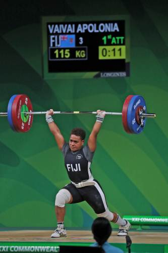 Apolonia Vaivai won bronze medal in the women's 69kg weightlifting category. Picture: ELIKI NUKUTABU