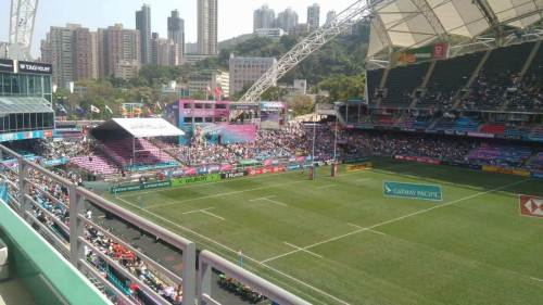 The field is ready for the first cup quarter finals between Fiji and Argentina. Picture: RAMA