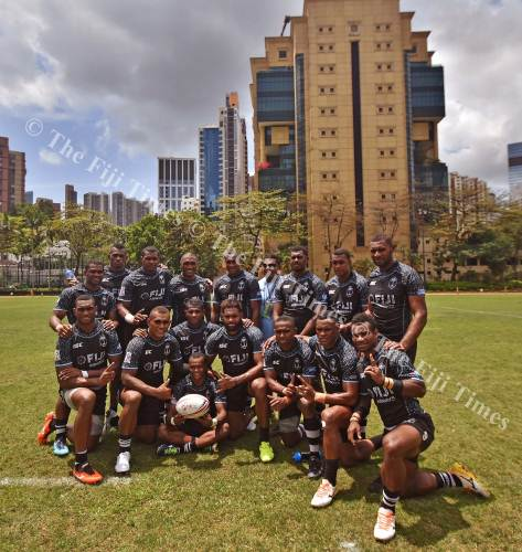 The Fiji Airways 7s team has claimed the first semi-final berth at the Hong Kong 7s. Picture: RAMA