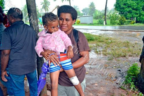Alice Namotu and her mother Arieta Nacagilevu at Matawalu Village in Lautoka. Picture: BALJEET SINGH