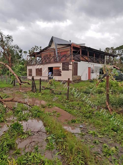 A house at Namuana Village in Kadavu partially damaged by Severe TC Keni. Picture: SUPPLIED