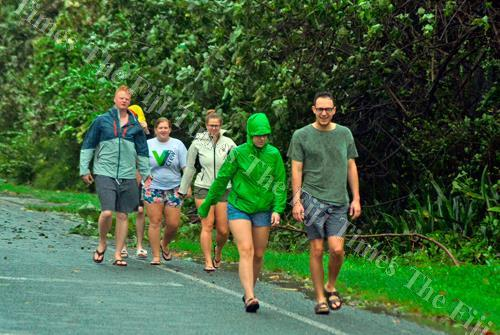 Tourists along the Coral Coast in Sigatoka. Picture: BALJEET SINGH