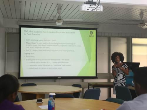 Oxfam Australia's cash and livelihoods advisor Sandra Hart. Picture: Lice Movono