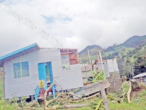 Nakasaleka District School teacher's quarters damaged during Cyclone Keni on Kadavu. Picture: SUPPLIED