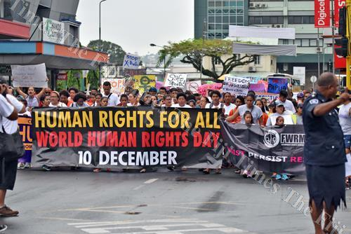 Hundreds took the streets during the World Human Rights Day march in Suva. Picture: FILE