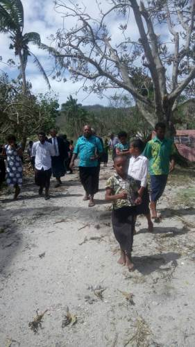 Villagers of Namuana in Kadavu returning from church today. Picture: SIKELI QOUNADOVU
