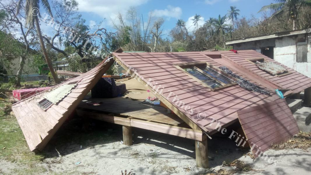 Destroyed houses in Namuana village, Tavuki, Kadavu. Picture SIKELI QOUNADOVU