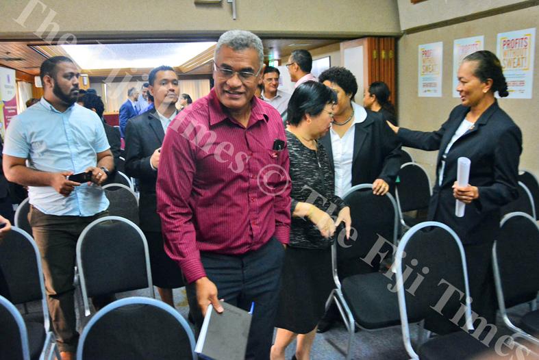 FNPF's Jaoji Koroi at the launch of Capital Markets Week in Suva. Picture: ELIKI NUKUTABU
