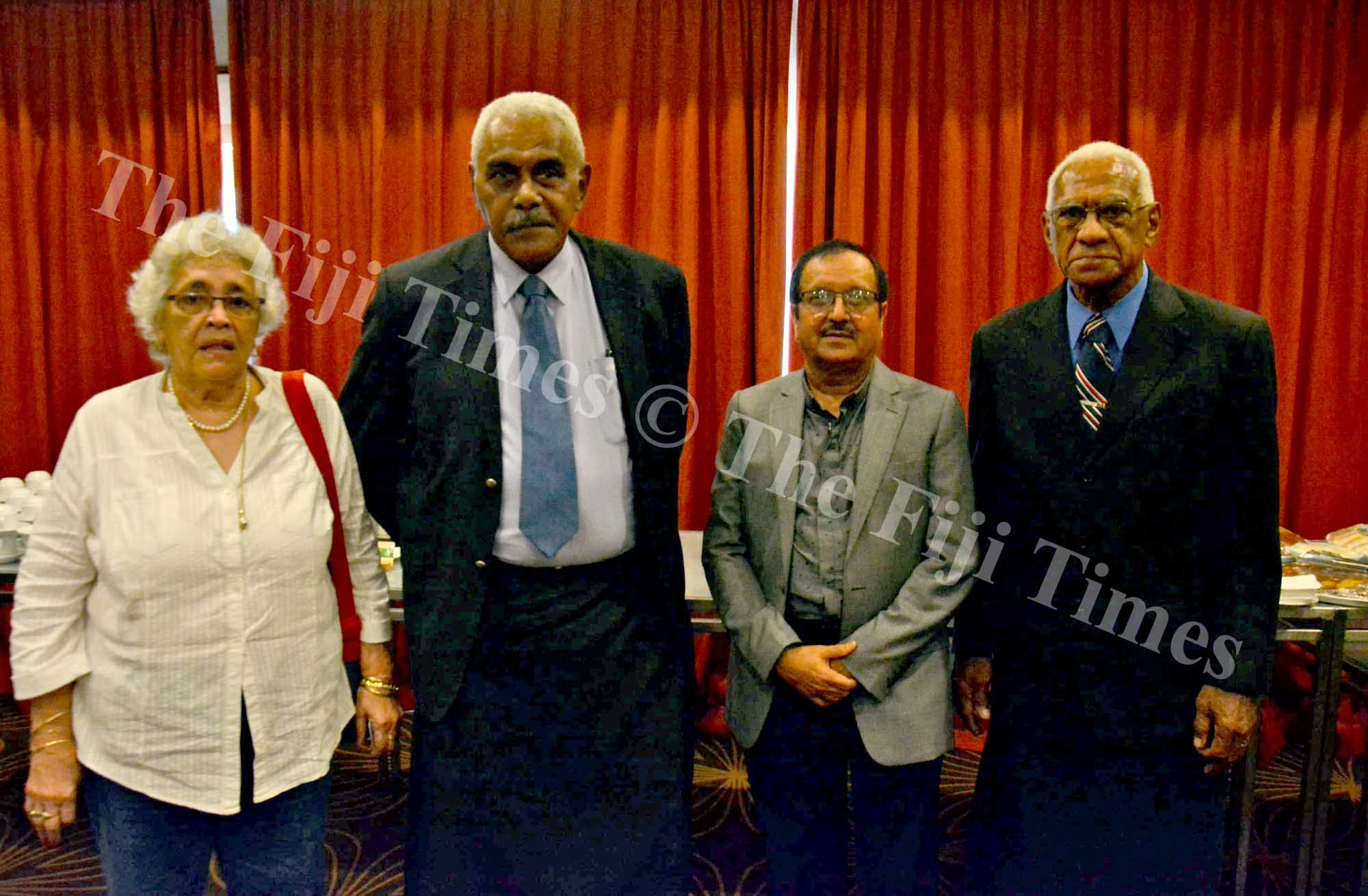 Electoral Commission members from left, Margot Jenkins, Simione Naiduki, Jay Lal and Paula Halaiwalu. Picture: JONACANI LALAKOBAU