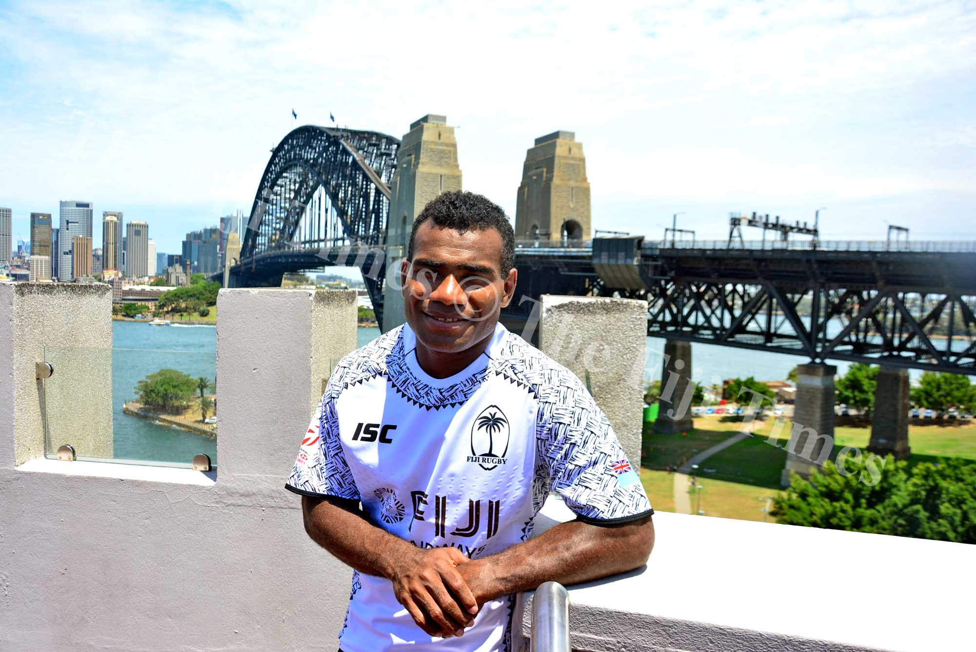 Fiji Airways Fiji men's captain Jerry Tuwai during a photoshoot at the St Aloysius College in Sydney, Australia on Wednesday, January 24, 2018. Picture: JONACANI LALAKOBAU