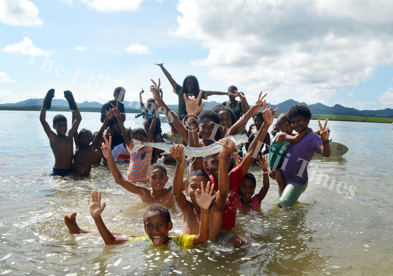 Children of Namukalau Village  in Dogotuki, Macuata enjoying their holidays before school starts next week. Picture SERAFINA SILAITOGA