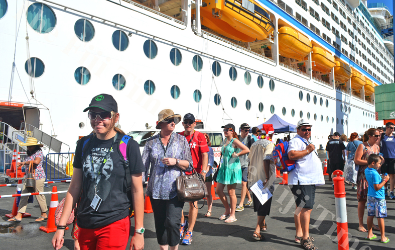 Tourists on the cruise liner 'Voyager of the Seas' at Lautoka Port. Picture: File