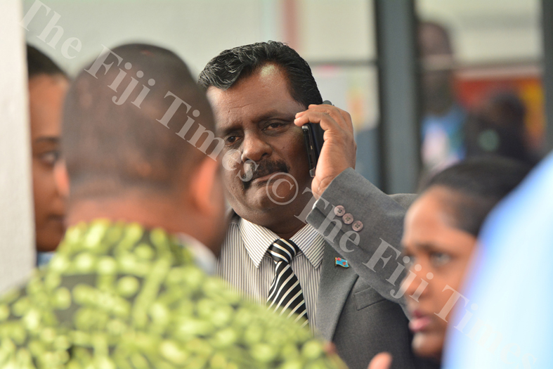 Minister for Local Government, Housing & Environment, Infrastructure & Transport Parveen Kumar during a break in parliamentary sitting yesterday. Picture: JOVESA NAISUA