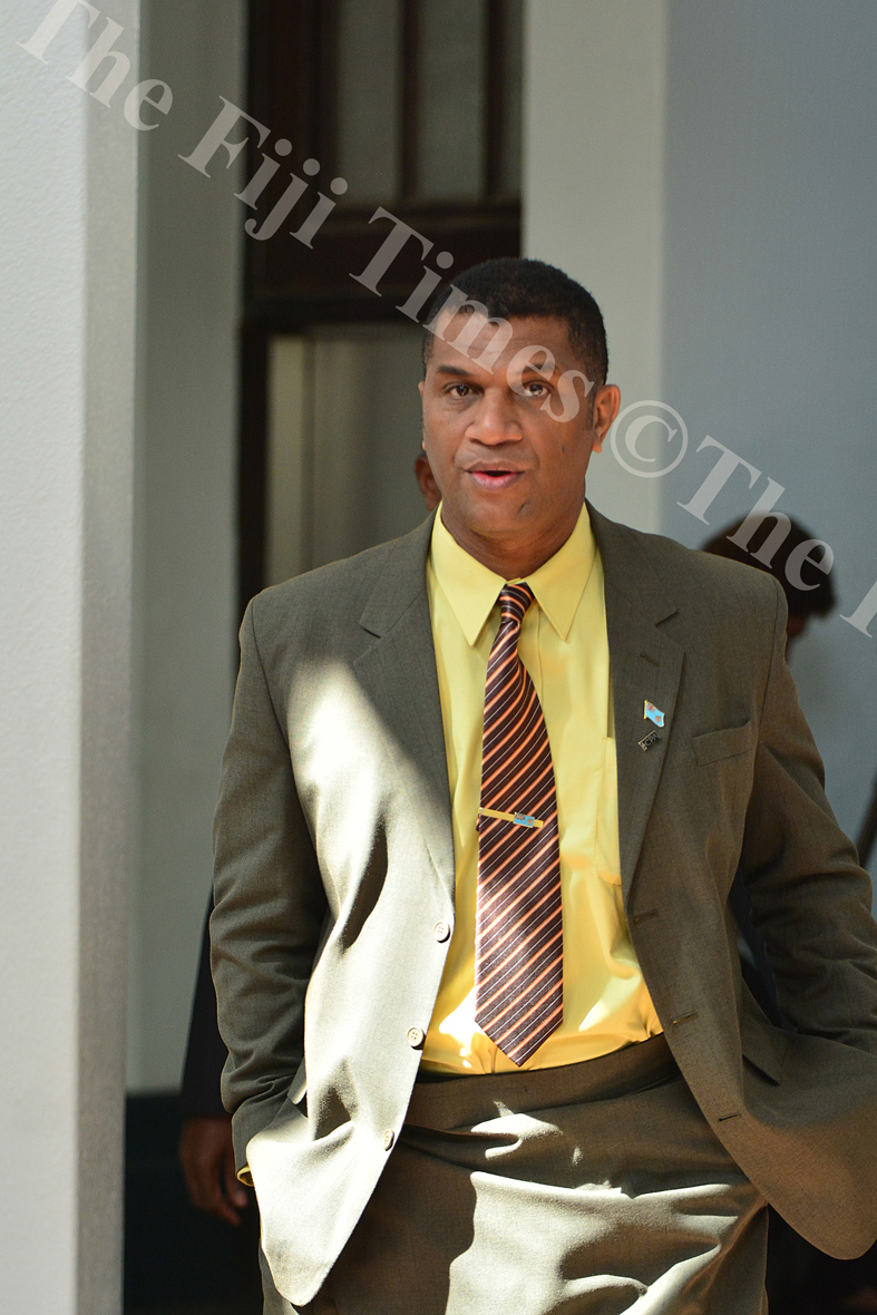 Opposition MP Aseri Radrodro at the parliament complex yesterday. Picture: JOVESA NAISUA