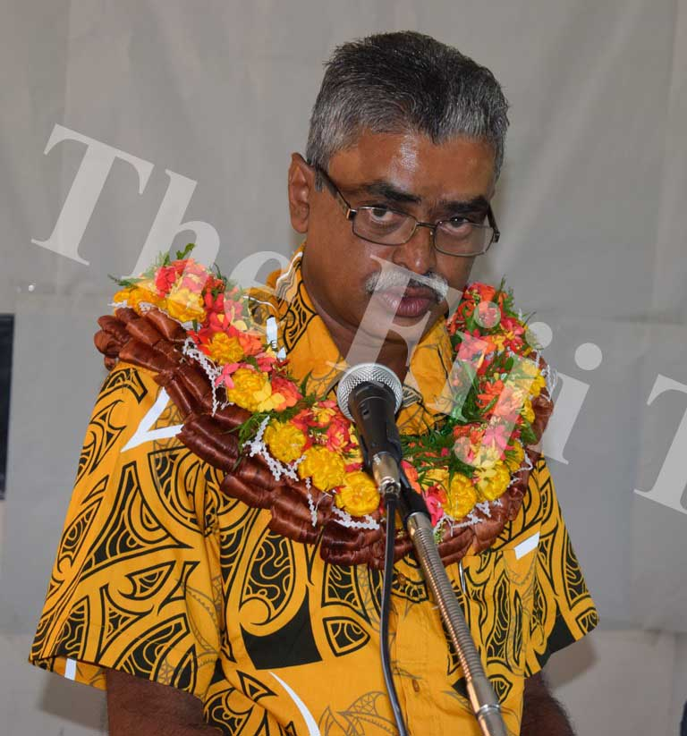 Assistant Minister for Agriculture Viam Pillay speaks at the workshop. Picture: SUPPLIED