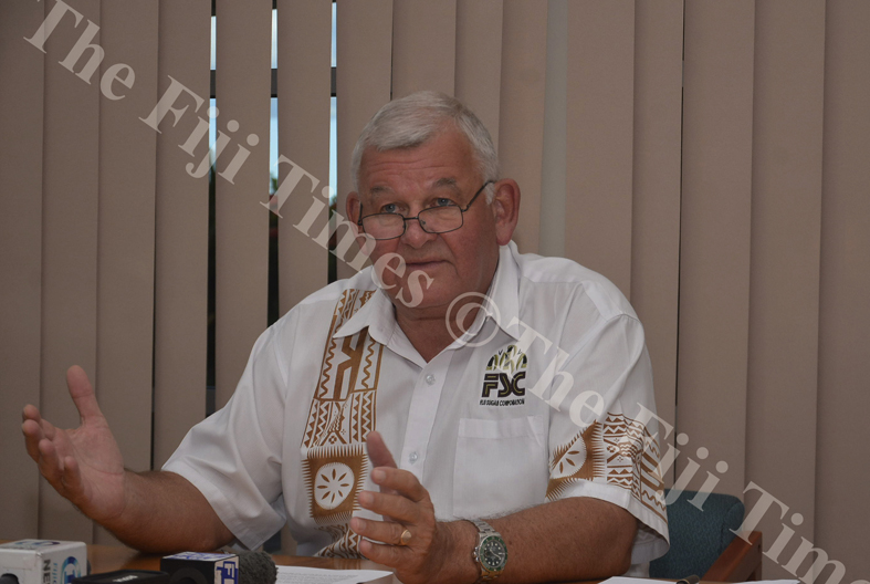FSC CEO Graham Clark during a press conference at FSC Head Quarters in Lautoka yesterday. Picture: BALJEET SINGH