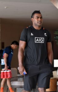 Joe Ravouvou of New Zealand 7's team at the hotel in Hong Kong yesterday. New Zealand team is pooled together with Fiji,Russia and Samoa.Picture: RAMA