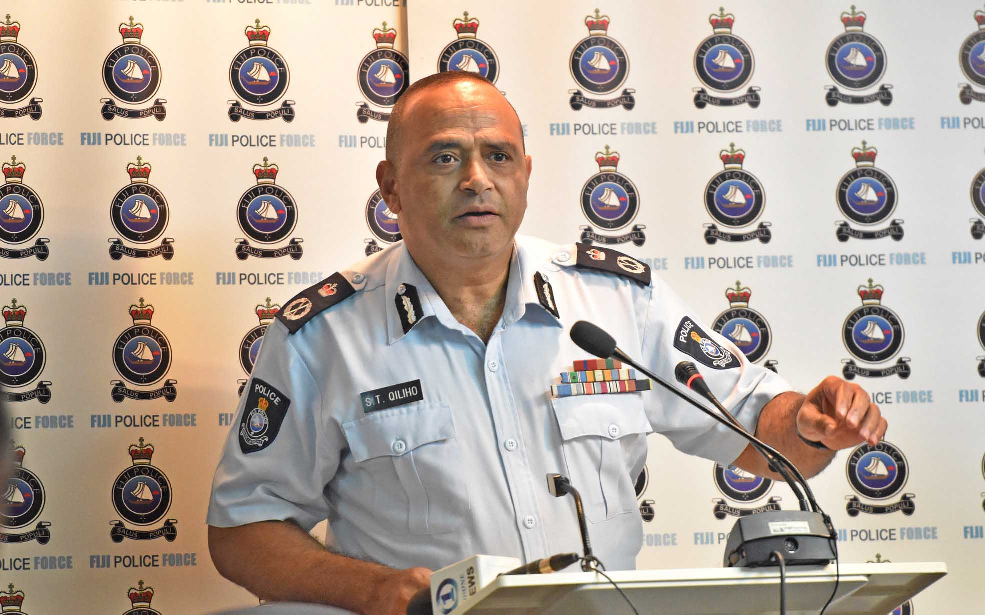 Police commissioner Sitiveni Qiliho during the press conference on police crime stats of 2017. Picture: RAMA