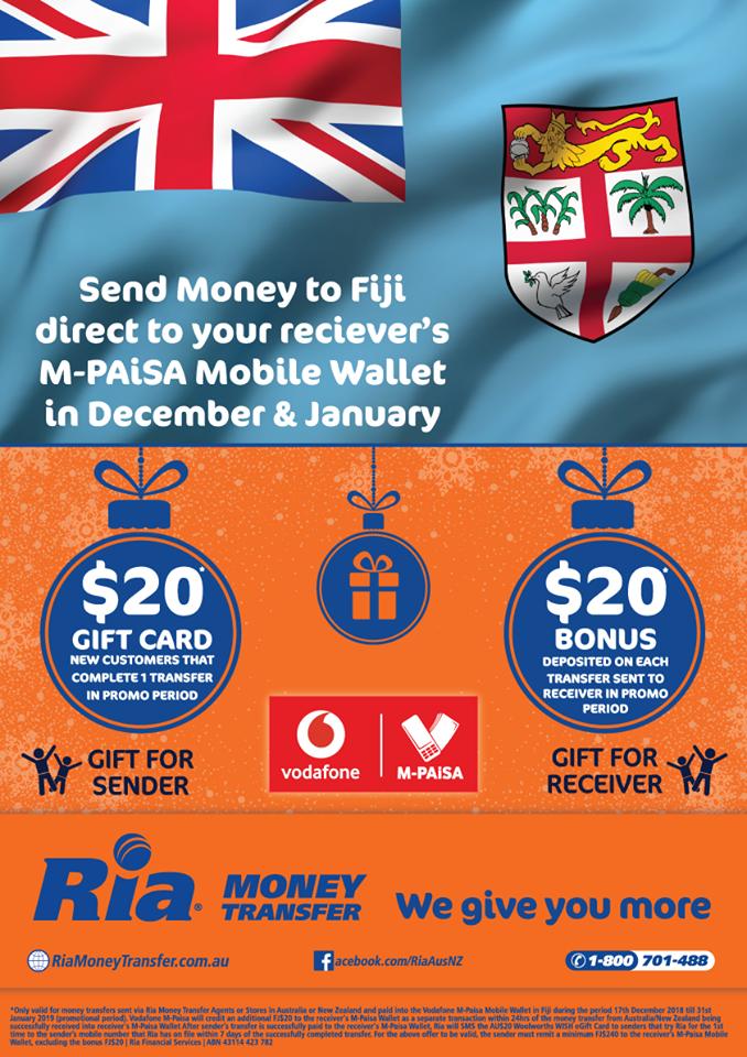 Vodafone Fiji Launches New Money Transfer Network
