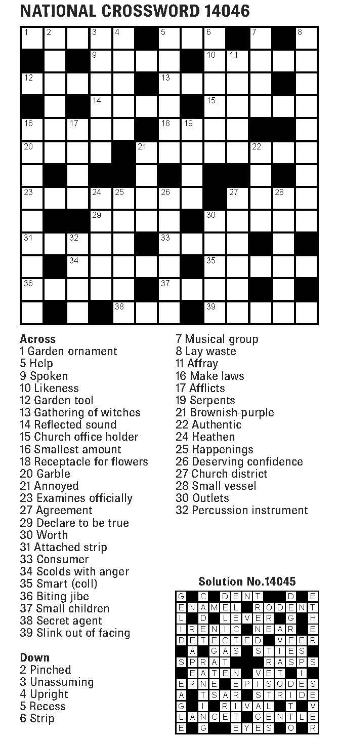 The Fiji Times » Crossword – 20th April 20