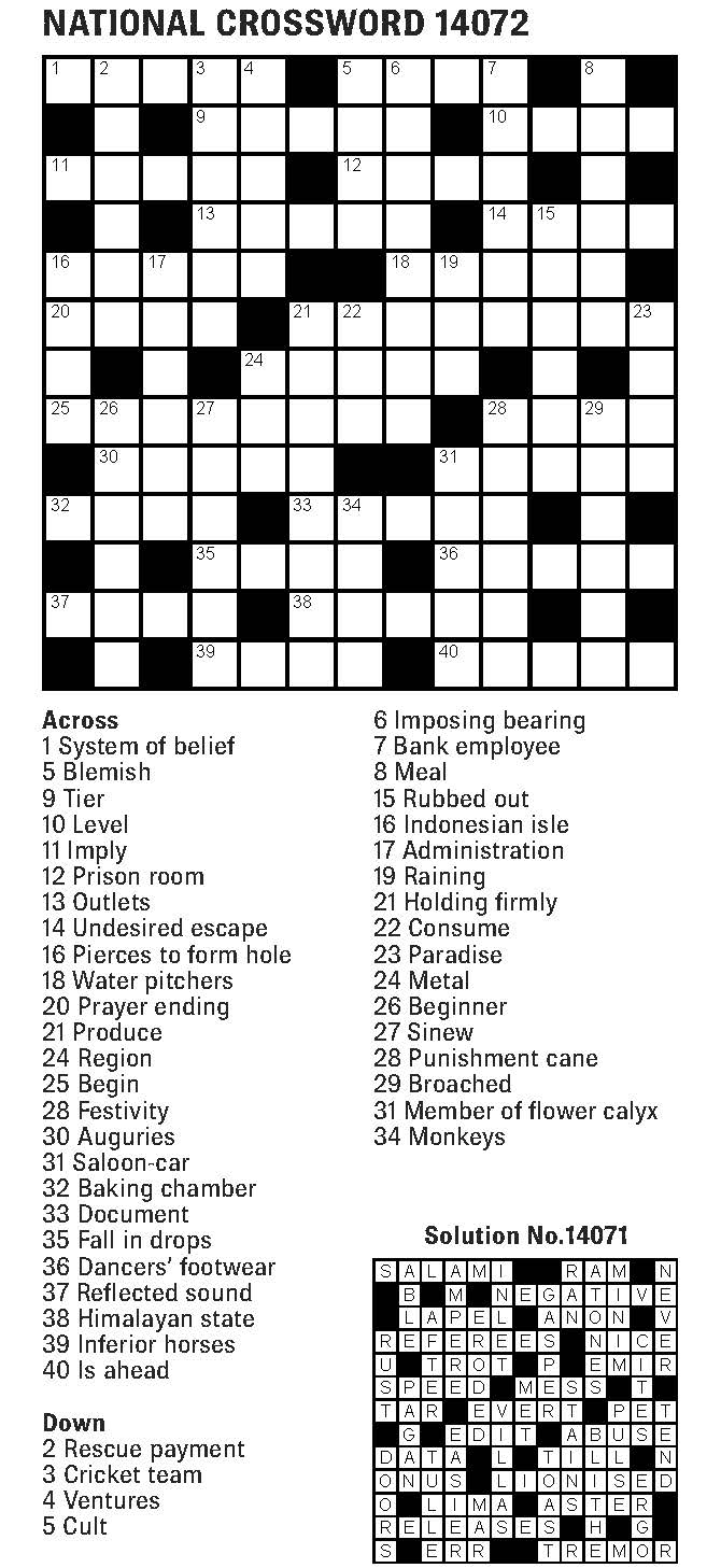 The Fiji Times » Crossword – 11th May 2019
