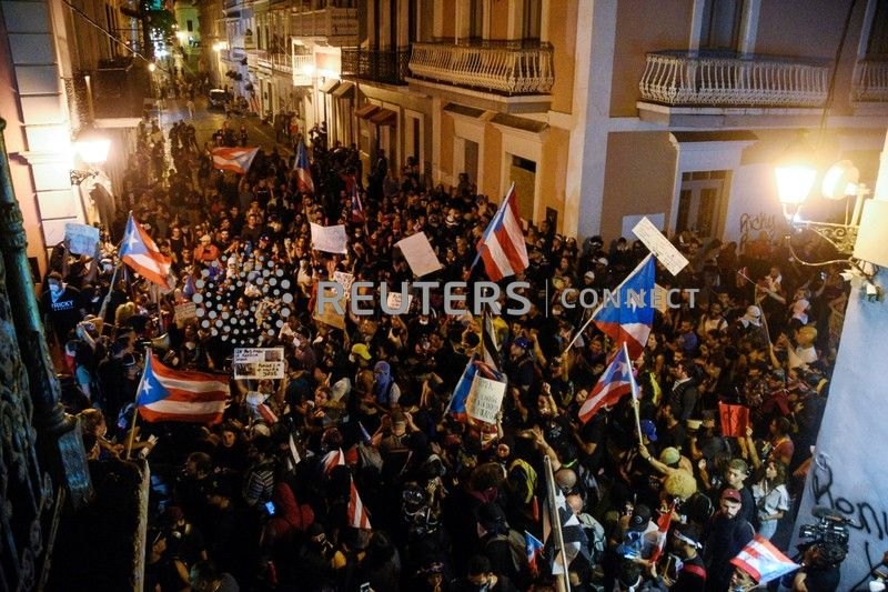 Image result for Puerto Rico demonstrations of July 2019