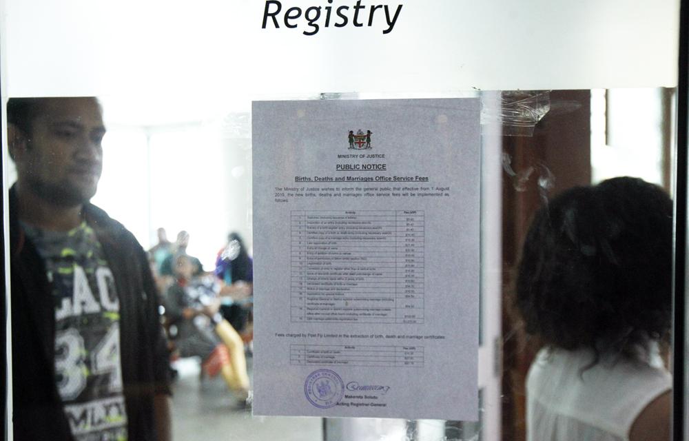 The Fiji Times » Birth certificate price hike concerns