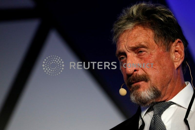 BARCELONA (Reuters) – John McAfee, an anti-virus software creator indicted for fraud in the United States, was in a Spanish jail on Tuesday pending