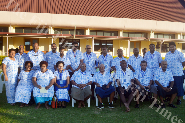 SODEPLA Executives and party members pose for a photo after the Annual General Meeting in Lautoka. Picture: SHAYAL DEVI