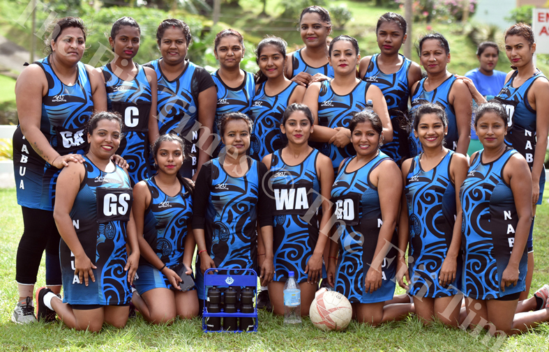 Nabua sanatan netball team during the Shree Sanatan Dharm Pratinidhi Sabha Fiji netball IDC at Samabula Primary School yesterday. Picture: RAMA