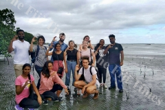 Members of the Project Survival Pacific pose for a group photo after their clean-up campaign along the Suva Foreshore yesterday. Picture: ASHNA PRATAP
