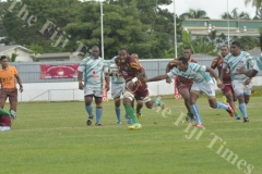 Lautoka's Jimilai Kotobalavu goes on attack against Serua during their match at Churchill Park Lautoka. Picture: REINAL CHAND