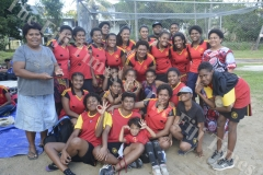 Saunaka Netters at the Nadi Netball Association Tournament yesterday. Picture: REINAL CHAND