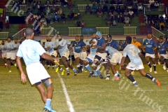 Nadi's Ilisoni Galala goes on attack against Suva during their match at Churchill Park Lautoka. Picture: REINAL CHAND