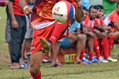 Nickel Chand of Labasa controls the ball against Lautoka during the Shree Sanatan Dharm Pratinidhi Sabha Fiji IDC soccer tournament at Marcellin School grounds yesterday. Picture: RAMA