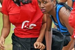 Ashley Neha Choy of Nabua looks for support against Rewa during the Shree Sanatan Dharm Pratinidhi Sabha Fiji netball IDC at Samabula Primary School yesterday. Picture: RAMA