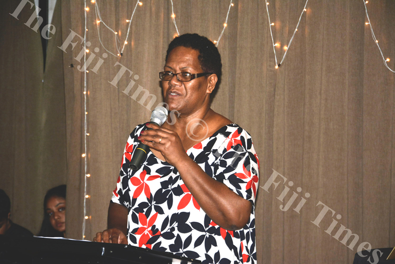 Real Estate Agents Licensing Board Acting Chief Executive Officer Virisila Tuimanu speaks at the Bayshore Fiji Real Estate Awards Night in Nadi. Picture: REINAL CHAND