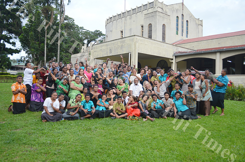 Youth leaders at the closing of the three-day youth training on discipleship at the Holy Trinity Anglican Cathedral in Suva. Picture: TREVOR WHIPPY