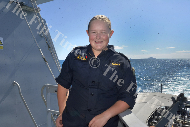Able Seaman Chelsea Thomas. Picture: SHAYAL DEVI