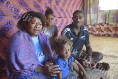 Alanieta Ravialaca tells the happy moments she remembers about her daughter as her husband Amori Dibi Batidegei, youngest daughter Merewalesi Adi ulina Tinai and nephew Tui Vuna looks on at their home in Yasiyasi Tavua. Picture: REINAL CHAND