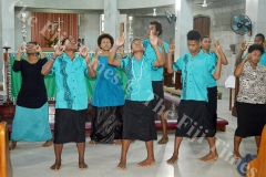 Youth leaders performing a dance at the closing of the three-day youth training on discipleship at the Holy Trinity Anglican Cathedral in Suva. Picture: TREVOR WHIPPY