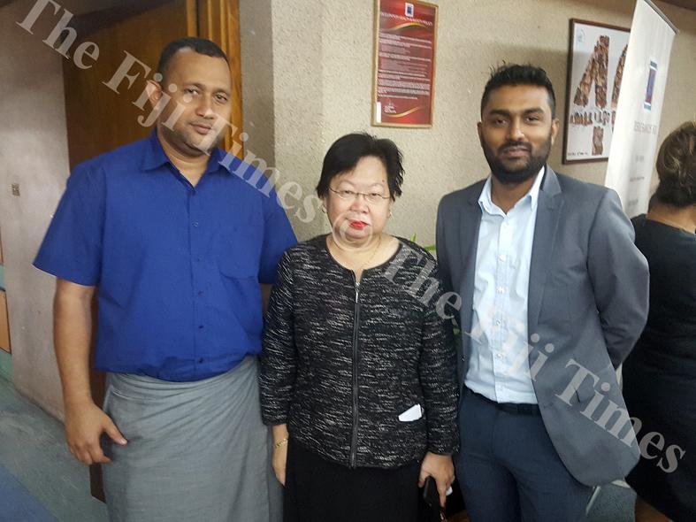 (L-R): Apenisa Tuisawau, Lorainne Seeto and Sameer Chand. Picture: ELIKI NUKUTABU