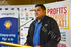 Reserve Bank of Fiji media officer Mervin Singh at the launch of Capital Markets Week in Suva. Picture: ELIKI NUKUTABU