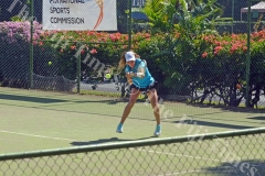 Saoirse Breen competes in the Fiji Open Tennis Championship in Nadi. Picture: REINAL CHAND