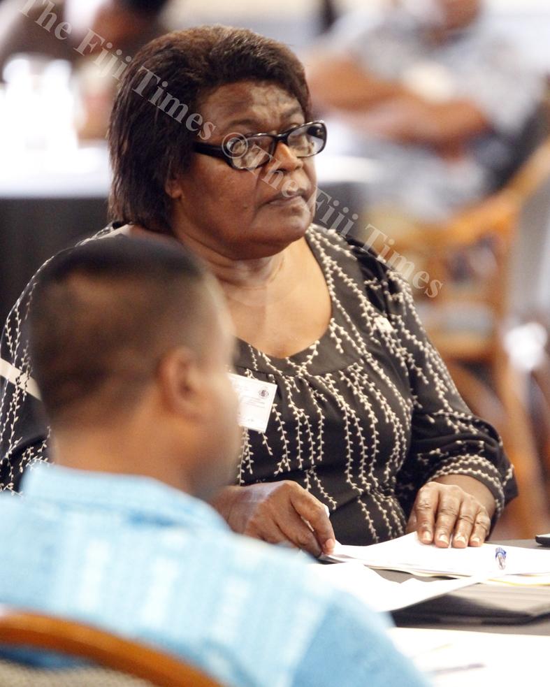 Sereana Saukalou a participants at the FCOSS workshop in Suva last week.Picture ATU RASEA