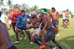 Members of the Naitasiri rugby team during their training session at Bidesi Grounds in Laucala Bay, Suva on Tuesday, July 03, 2018. Picture: JONACANI LALAKOBAU