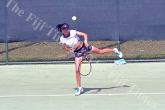 Japan's Minami Tani competes in the Oceania Open Junior Championships in Lautoka. Picture: REINAL CHAND