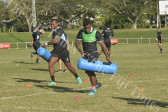 Fiji Airways 7s player Josua Tuisova in action during the training at Prince Charles Park in Nadi. Picture: REINAL CHAND